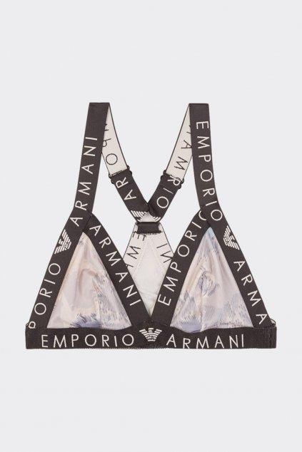Emporio Armani Sporty Microfiber triangle podprsenka - modrá, růžová