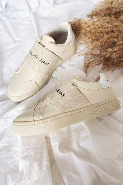 Calvin Klein Jeans dámské tenisky - smetanová