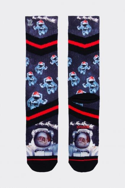XPOOOS ponožky pánské - santa ve vesmíru (Velikost 43/46)