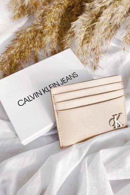 Calvin Klein pouzdro na karty - béžové