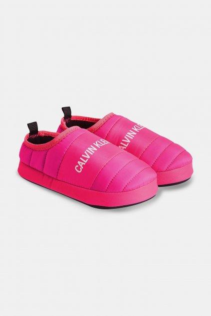 Calvin Klein Jeans bačkory dámské- neonově růžová