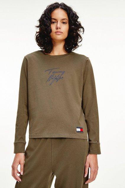 Tommy Hilfiger dámské tričko s dlouhým rukávem- khaki