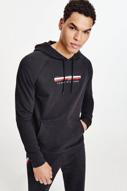 Tommy Hilfiger logo mikina pánská - černá