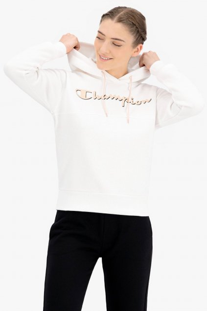 Champion mikina s logem dámská - bílá