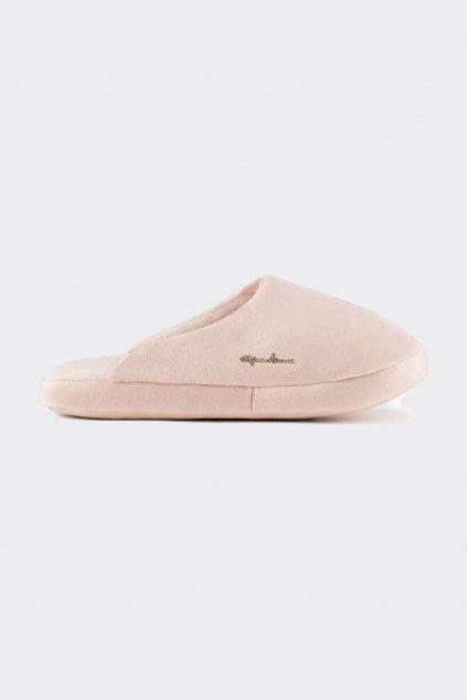 Emporio Armani Shiny Velvet  bačkory dámské - světle růžové