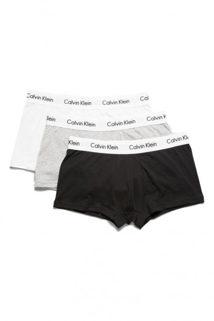 Calvin Klein Boxerky Premium 3 balení - černá, bílá, šedá