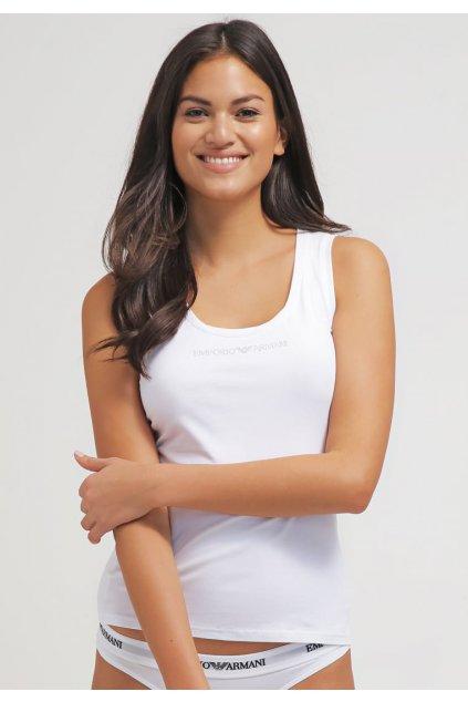 Emporio Armani Tílko Essential Cotton- bílé