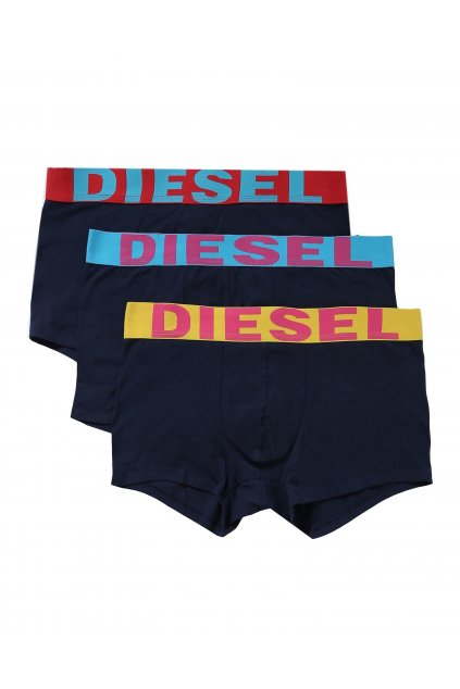 Diesel Logo Boxerky - 3 balení barevné