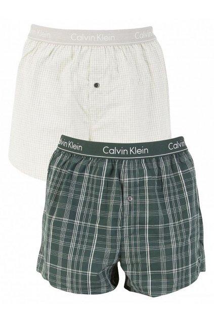 Calvin Klein Trenýrky 2 balení - světlá/zelená