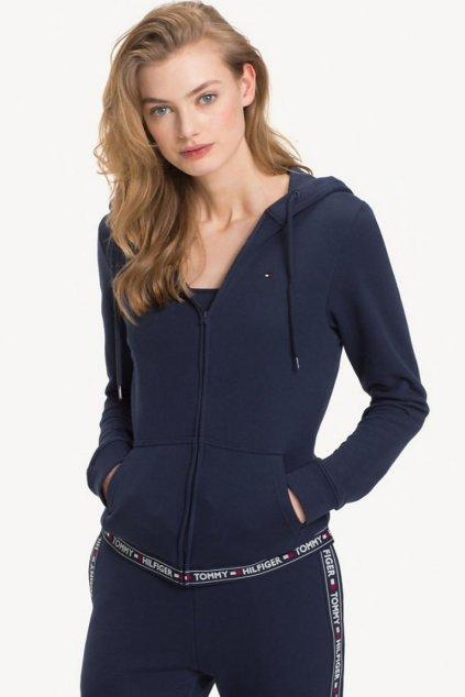 Tommy Hilfiger Side Logo dámská Mikina - tmavě modrá