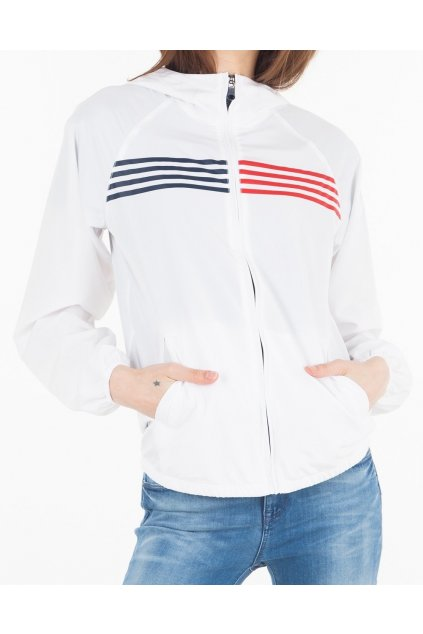 Tommy Hilfiger Windbreaker bunda - bílá