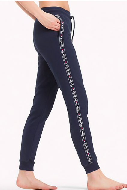 Tommy Hilfiger side logo tepláky dámské - modré