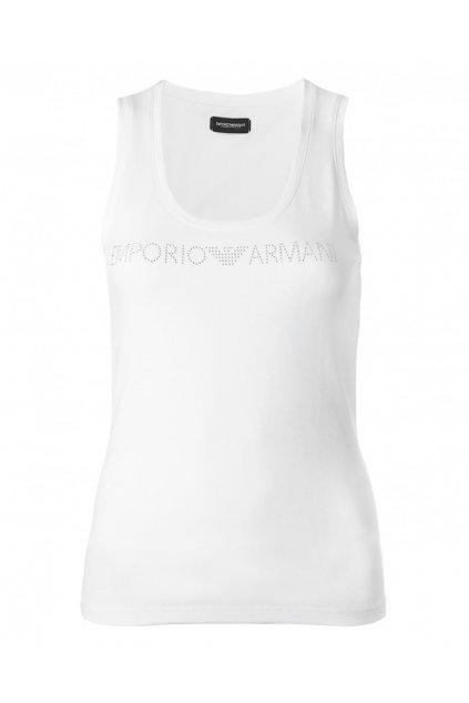 Emporio Armani Tílko Limited Pure Cotton Visibility logo - bílé