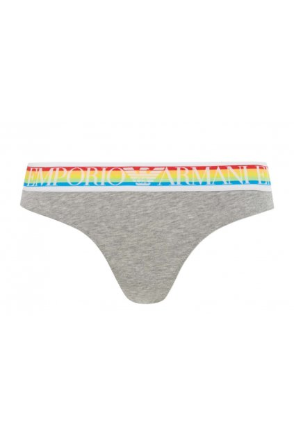 Emporio Armani LogoBand tanga - grey rainbow