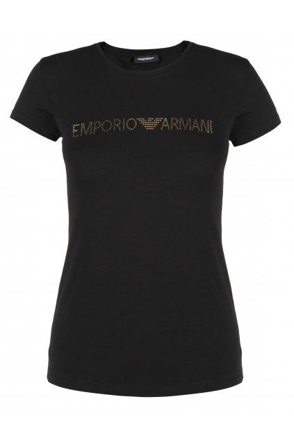 Emporio Armani Tričko Basic Cotton - Black