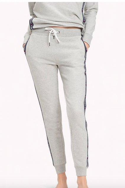 Tommy Hilfiger side logo dámské tepláky - šedé