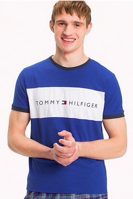 Tommy Hilfiger Lounge Tričko - modré
