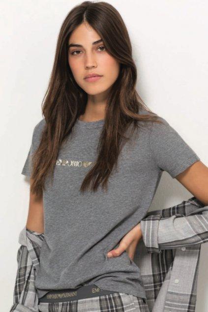 Emporio Armani Tartan Flannell tričko - šedé