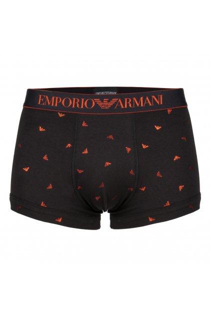 Emporio Armani Boxerky Shiny Eagles - černé