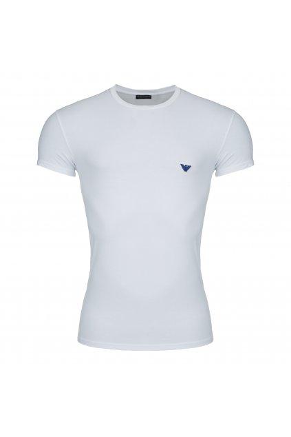 Emporio Armani Shiny Logo tričko - bílé