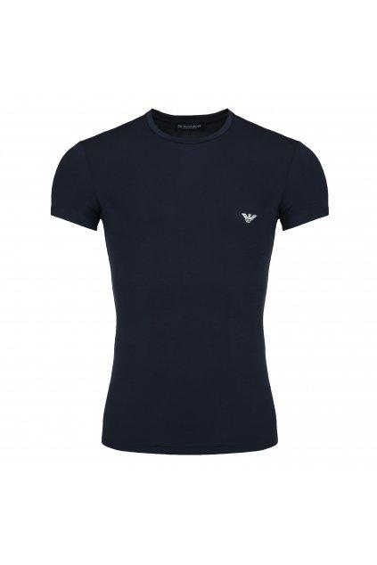 Emporio Armani Soft modal tričko - tmavě modré