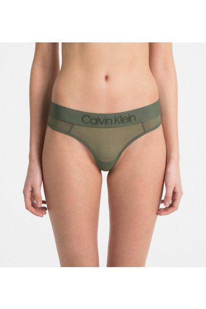 Calvin Klein Tonal Logo tanga - zelená