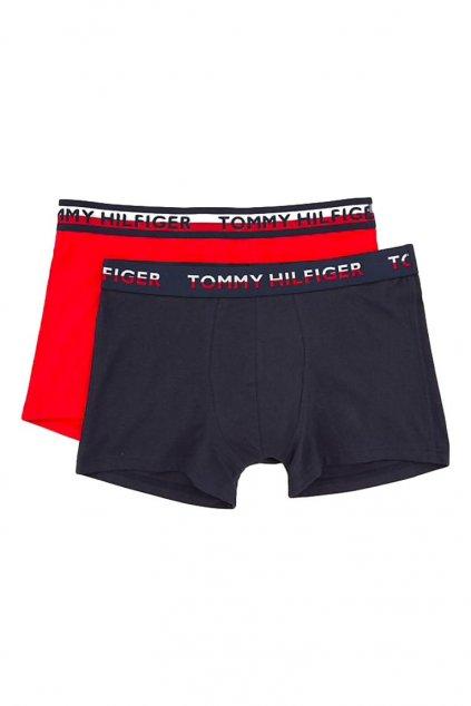 Tommy Hilfiger Cotton boxerky 2- balení - tango red/navy blazer