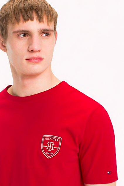 Tommy Hilfiger Crest tričko - scooter red