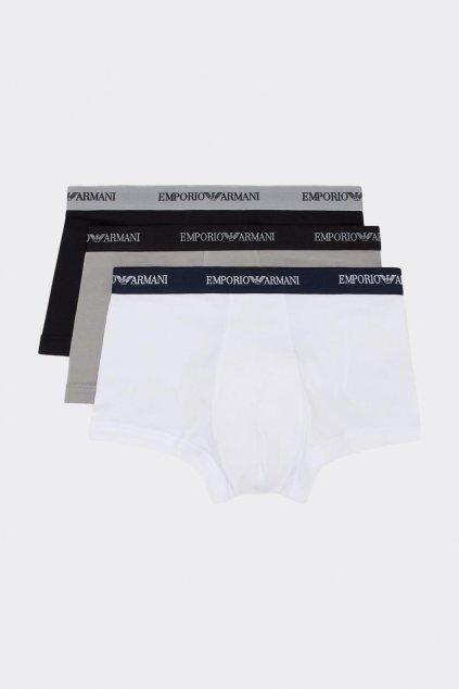 Emporio Armani Boxerky 3-balení -bílá, černá, šedá