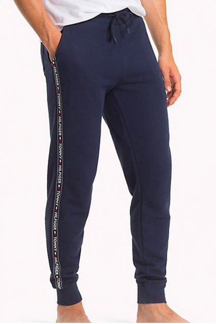 Tommy Hilfiger side logo pánské tepláky - tmavě modré