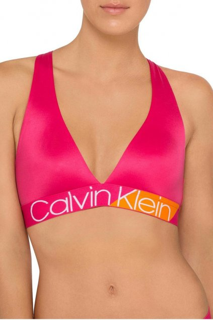 Calvin Klein Bold Accents Unlined Braletka - nora/ bell orange