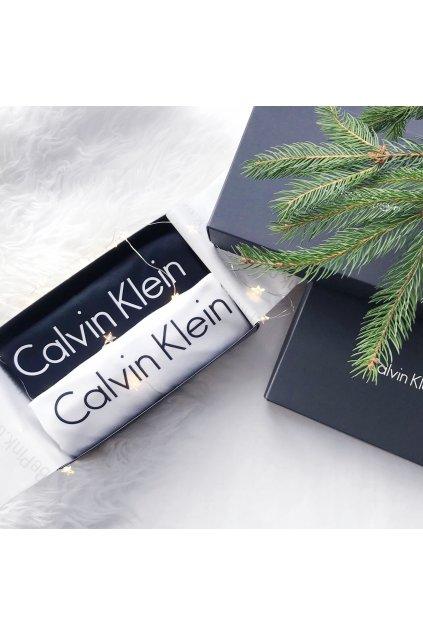 X-MAS Dárkové balení pro něj: Calvin Klein trička 2 kusy - černá/bílá
