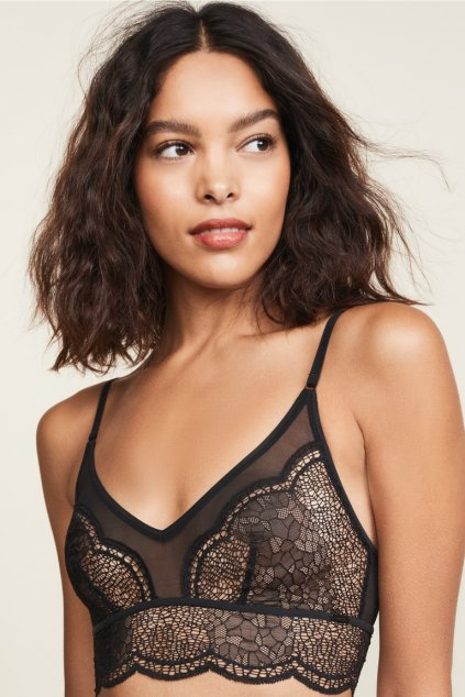 Calvin Klein CK black unlined Bralette  - black