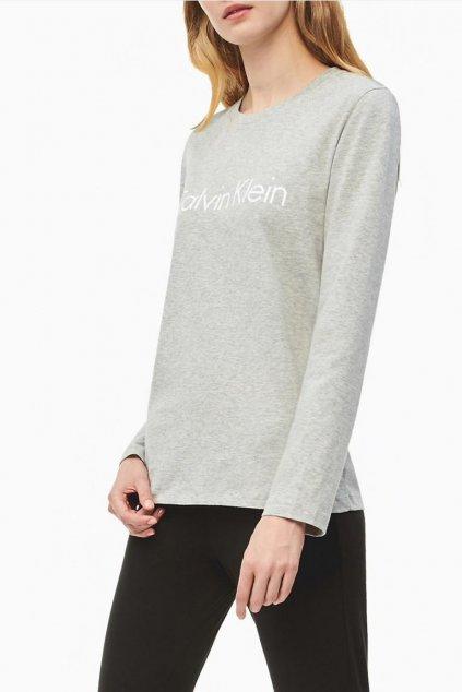 Calvin Klein dámské Logo tričko s dlouhým rukávem - šedé