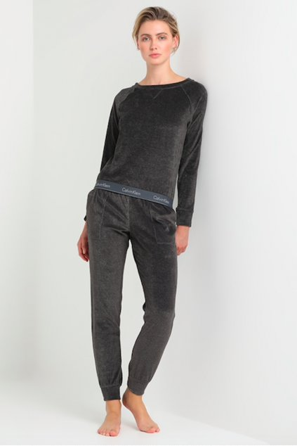 Calvin Klein Semišová Modern Cotton Mikina - washed black