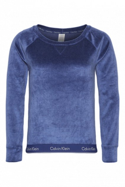 Calvin Klein Semišová Modern Cotton Mikina - dark night