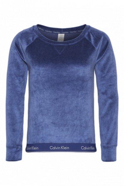 Calvin Klein Semišová Modern Cotton Mikina - dark night