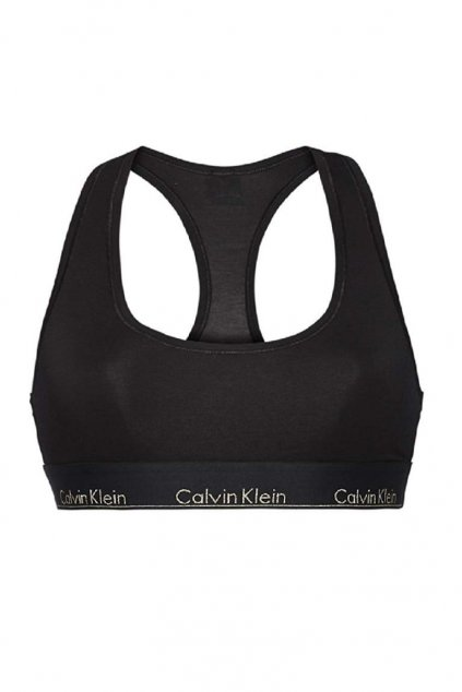 Calvin Klein Modern Cotton Bralette - černá/zlatá