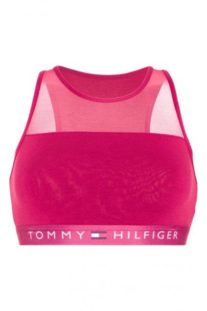 Tommy Hilfiger braletka flex cotton - passion fruit