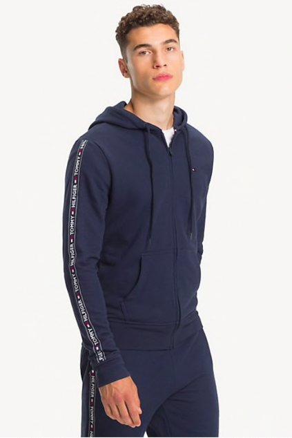 Tommy Hilfiger Side Logo mikina pánská - modrá