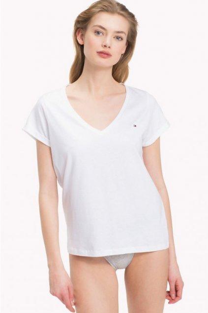 NEW! Tommy Hilfiger V-neck Tričko - bílé