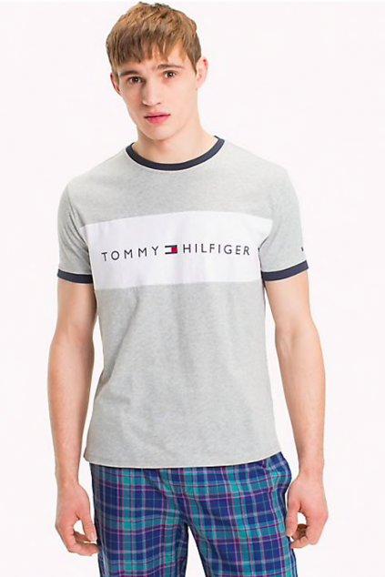 Tommy Hilfiger Lounge Tričko - šedé