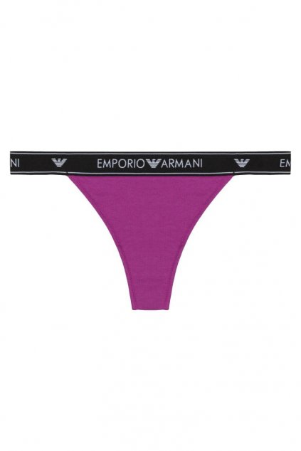 Emporio Armani LogoBand tanga - vivid purple