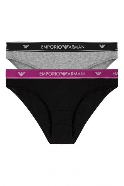 Emporio Armani LogoBand kalhotky 2-balení - black/grey