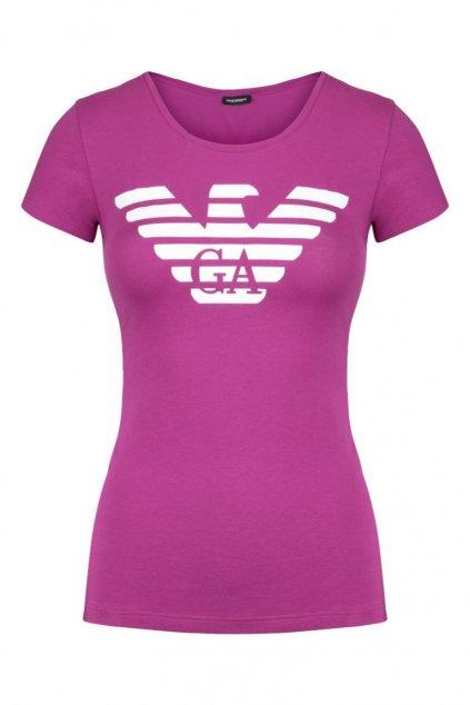 Emporio Armani Eagle tričko- vivid purple
