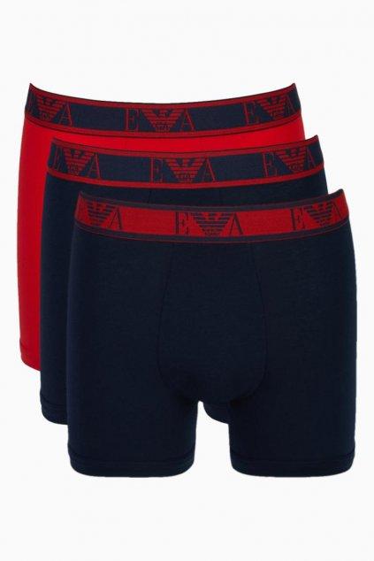 Emporio Armani logoband Boxerky 3-balení - marine/red