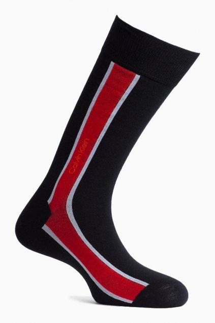 Calvin Klein stripe ponožky černé - pánské
