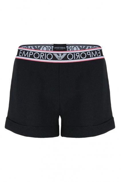 Emporio Armani Sporty cotton šortky - černé