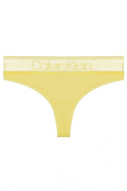 Calvin Klein Logo Lace brazilky - žluté