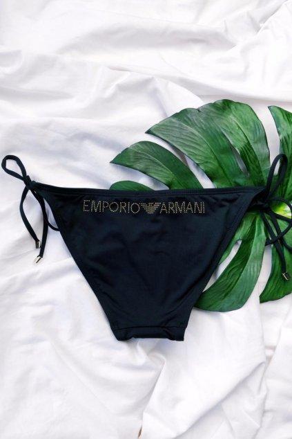 Emporio Armani cheeky plavky - černé